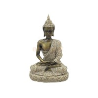 Sand Stone Meditation Buddha Statue Hand Carved Wealth Artist Luck Hindu #1