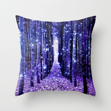 Magical Forest Throw Pillow by vintageby2sweet