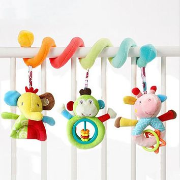 Playpen Baby Crib Bed Hanging Toys Stroller Rattles Plush Elephant Doll Cute Infant Babyplay Cartoon Animal Hanging Bell Crib