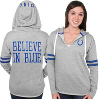 Indianapolis Colts PINK by Victoria's Secret Women's Varsity Tunic Pullover Hoodie – Gray