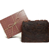 Hazelnut Coffee Scrub Soap, Handmade Soap, Vegan Soap, Gift under 10