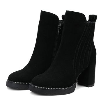 Chunky Heel Ankle Boot