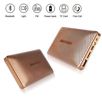 Power Bank Battery Charger 5000mAh Bluetooth Speaker USB LED Portable TF Card
