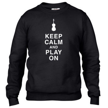 Keep Calm And Play On A Cello Crewneck sweatshirt