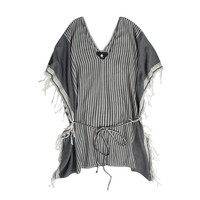 Kya Tunic in Grey and Ecru by Su