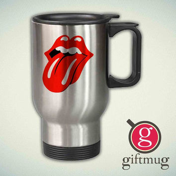 The Rolling Stones Tongue 14oz Stainless Steel Travel Mug