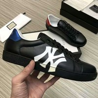 GUCCI x NY co-branded casual men's low-top sports shoes Black