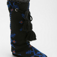 MUK LUKS Grace Snowflake Slipper-Sock Boot