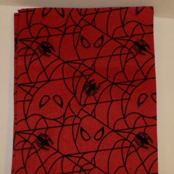 Felt sheets, spider-man, super hero, craft supplies, spiders, red felt, spiderman fabric, mask crafts, costume making, costumes, 5 pieces