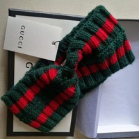 GUCCI Fashion Women Men Wool Web headband G