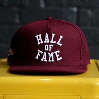 Hall of Fame - Harlem Tech Snapback - Burgundy