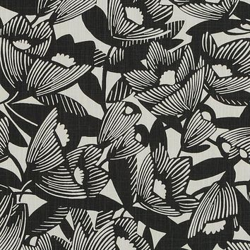 Robert Allen Fabric 262127 Romaria Ink