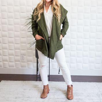 Sueded Wrap Jacket