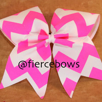 Chevron Cheer Bow by MyFierceBows on Etsy