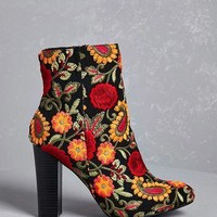 Embroidered Ankle Boots