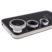 Amazon.com: Wide+macro+180°fish Eye 3-in-1 Lens Conversion for Iphone 4 4s 3 3gs Ipad 2 Ipod: Everything Else