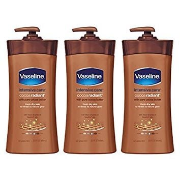 Vaseline Intensive Care Body Lotion, Cocoa Radiant 20.3 oz, 3 count
