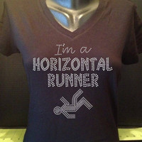 I'm a Horizontal Runner Bling V-Neck Tee - Pitch Perfect Inspired Shirt