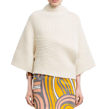 Acne Studios Grace White Cropped Sweater