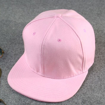 Simple Baseball Cap Pink