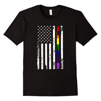 Gay Pride Rainbow American Flag shirt