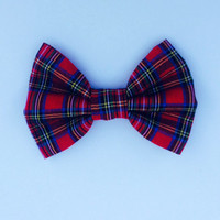 Red Plaid Hairbow