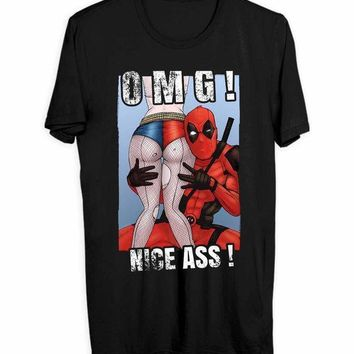 Deadpool And Harley Quinn Adult Movie Men T Shirts