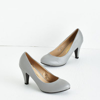 Minimal In a Classic of Its Own Heel in Grey by ModCloth