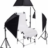 Product Photography Shooting Table 3 Softbox 12 Bulb Light Kit With Stands and Boom Photo Equipment  SC1028