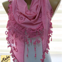 SALE ! 9,90 USD-Pink scarf-Fashion scarf - gift Ideas For Her Women's Scarves-  for her