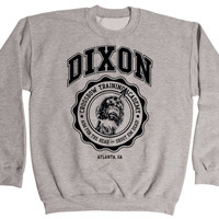 Dixon Crossbow Training Academy - Fun Cool Walk Dead Daryl Dixon Zombie Walker Hunter - Men's Sweatshirt - E1613