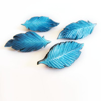 Harvest Moon 64- Blue Wedding/Proposal Feather brooch