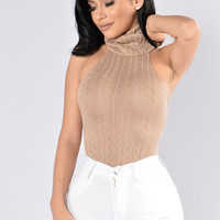 Hide In Your Shell Bodysuit - Taupe