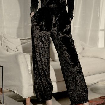 High Waist Velvet Trousers