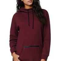 LA Hearts Tunic Zipper Hoodie - Womens Hoodie - Red