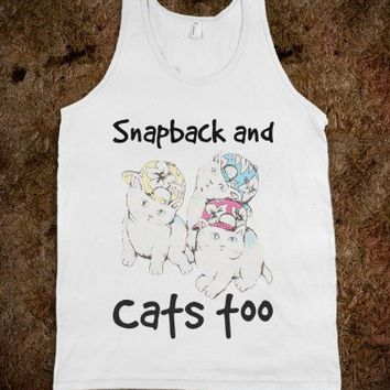 Snapbacks and Cats tank - Movie Quote Shirts