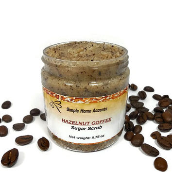 Hazelnut Coffee Sugar Scrub, Coffee Scrub, Vegan Sugar Scrub, Exfoliating Scrub, Body Polish, Gift under 10