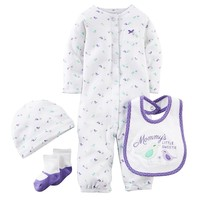 Carter's Print Coverall Set - Baby Girl, Size: