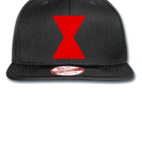 Black Widow embroidery hat - New Era Flat Bill Snapback Cap
