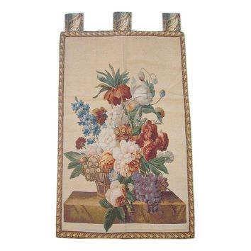 "Spring Harvest Elegant Woven Fabric Baroque Tapestry Wall Hanging - 28"" x 43"""