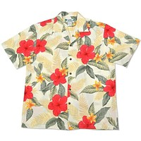 makaha cream hawaiian rayon shirt