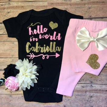 Baby Girl coming home outfit, take home outfit, baby clothes, baby girl outfit, baby girl outfit, baby hospital outfit, baby girl clothes