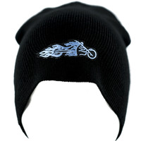 Harley Davidson Flaming Motorcycle Beanie Alternative Clothing Knit Cap