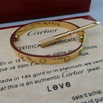 One-nice? Love Cartier Series -(size 16)Bracelet in 18k Yellow Gold & Screwdriver