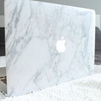 White Marble MacBook decals  Gloss Matte Flat  Laptop skins - Laptop decal - MacBook Pro  MacBook Air MacBook Pro Retina  MacBook skins