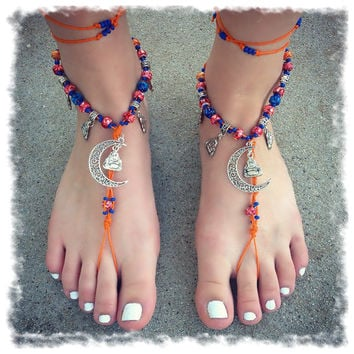 Handmade Buddha Moonlight Barefoot Sandals
