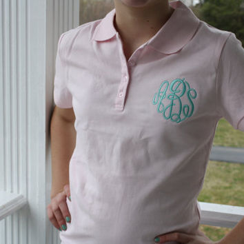 Monogrammed Ladies Fitted Polo