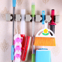 Plastic 5 Position Broom Mop Laundry Bar Clean Ball Laundry Brush Holder Tool