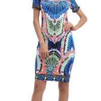 Givenchy Fashion Printed Dresses with One-collar Open-fork Dresses