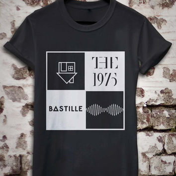 The neighbourhood, The 1975, Bastille, Arctic monkeys Logo band Music T-shirt for women and men's size available